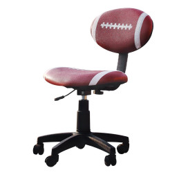 Youth Office Chair with Pneumatic Lift, Football - PU, Plastic, Foam Football: Brown