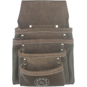 4 Pocket Oil Tanned Leather Nail & Tool Pouch Bag