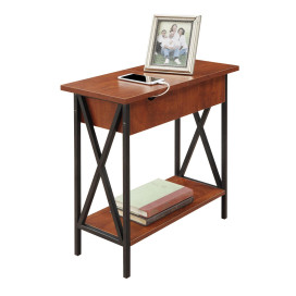 Tucson Flip Top End Table With Charging Station