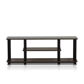 Furinno 12250R1DBR/BK Turn-N-Tube No Tools 3-Tier Entertainment TV Stands