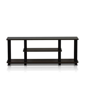 Furinno 12250R1WN/BK Turn-N-Tube No Tools 3D 3-Tier Entertainment TV Stands