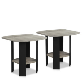 Furinno 2-11180Gyw Simple Design End Table, Set Of Two