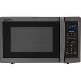 1.4 CF Countertop Microwave, 1100W - Black Stainless