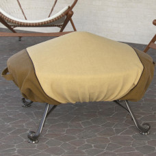 Dura Covers Fade Proof Two Tone 60 Heavy Duty Round Fire Pit Cover - Durable and Water Resistant Firepit Cover, Large