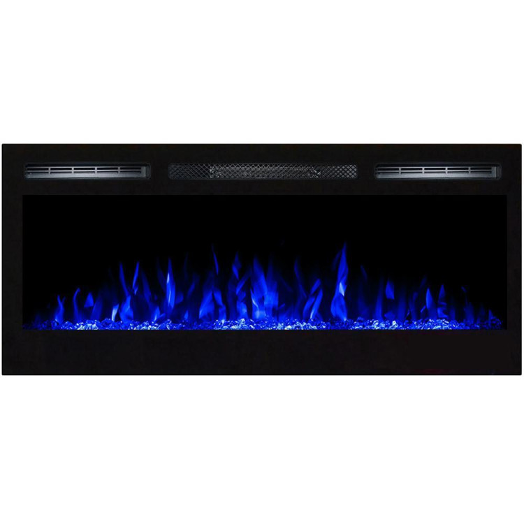Regal Flame Lexington 35 Crystal Built in Wall Ventless Heater Recessed Wall Mounted Electric Fireplace Better than Wood Fireplaces, Gas Logs, Inserts, Log Sets, Gas Fireplaces, Space Heaters
