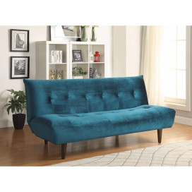 Transitional Sofa Bed/ Futon, Teal Blue